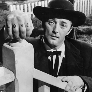 Robert Mitchum in The Night of the Hunter.