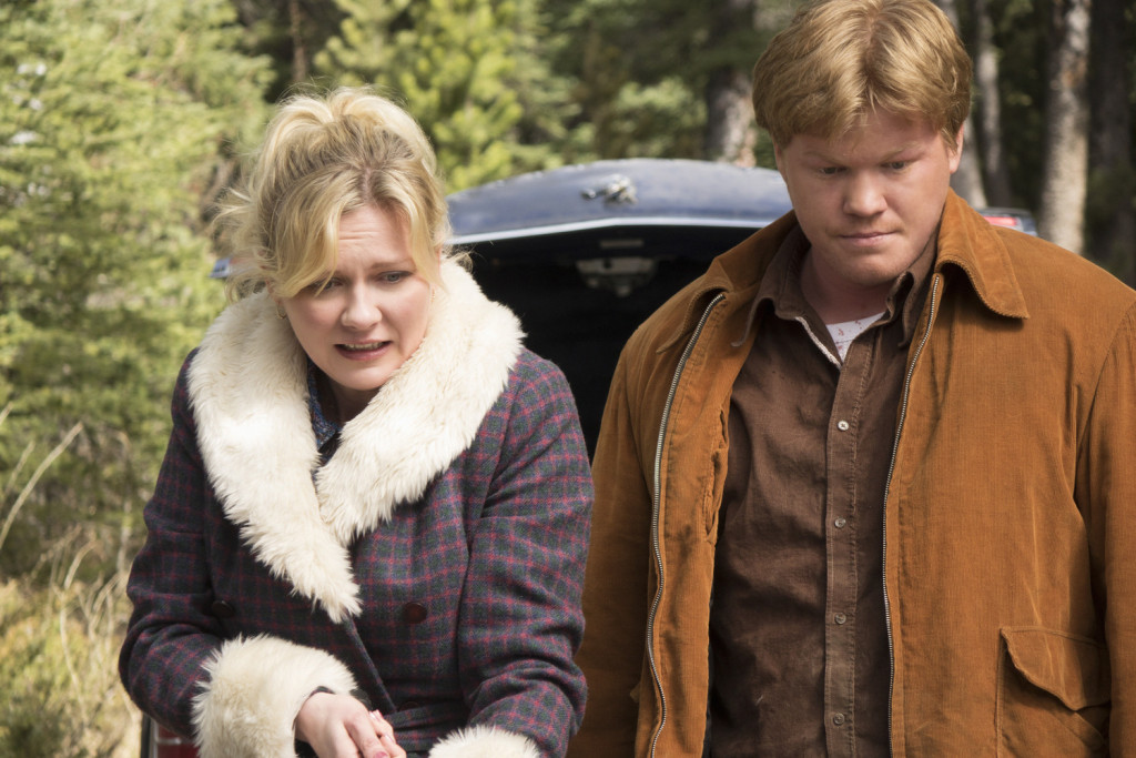 FARGO -- ÒLoplopÓ -- Episode 208 (Airs Monday, November 30, 10:00 pm e/p) Pictured: (l-r) Kirsten Dunst as Peggy Blumquist, Jesse Plemons as Ed Blumquist. CR: Chris Large/FX
